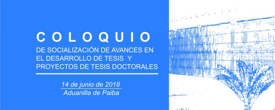 banner del Coloquio DIE 2018