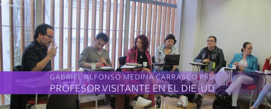 Banner por la visita del PhD. Gabriel Medina al DIE-UD