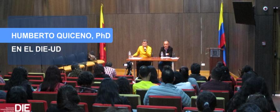 Banner de la visita de Humberto Quiceno al DIE-UD