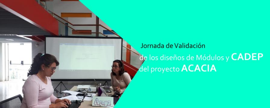 Banner por la Jornada de Validación del proyecto ACACIA