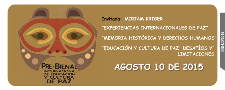 Banner de la Pre-Bienal publicado por el DIE-UD
