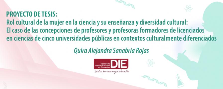Banner de la sustentación del proyecto de Quira Sanabria