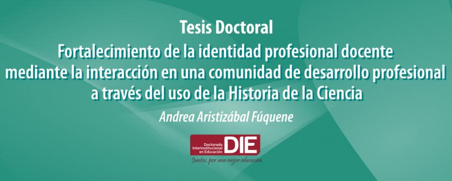 Banner de la sustentación de tesis de Andrea Aristizábal