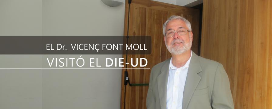 Banner por la visita del Dr. Vicenç Font Moll