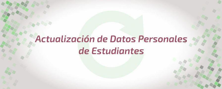 Banner por el Proceso de actualización de datos de estudiantes