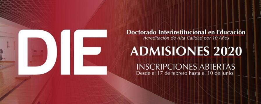 Banner por el Proceso de admisiones del DIE-UD 2020