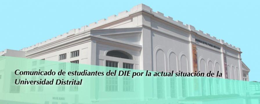 Banner por el Comunicado de estudiantes del DIE