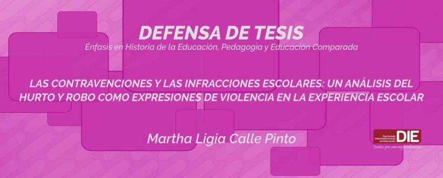 Banner por la Defensa de Tesis Doctoral, Martha Ligia Calle Pinto