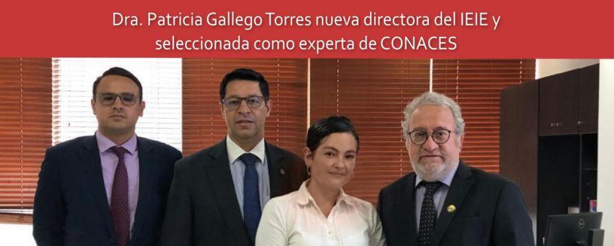 Banner por nombramiento de Patricia Gallego como directora IEIE