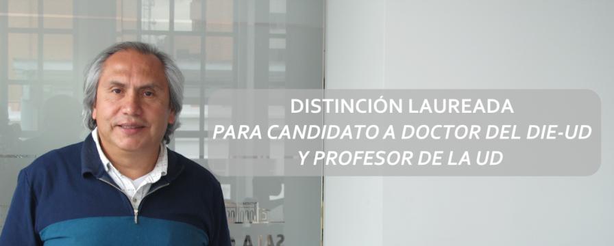Banner por la Distinción laureada a la tesis de Antonio Quintana