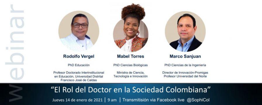 Banner por el WEBINAR El Rol del Doctor en la Sociedad Colombiana