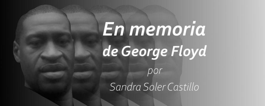 Banner para el texto: En memoria de George Floyd