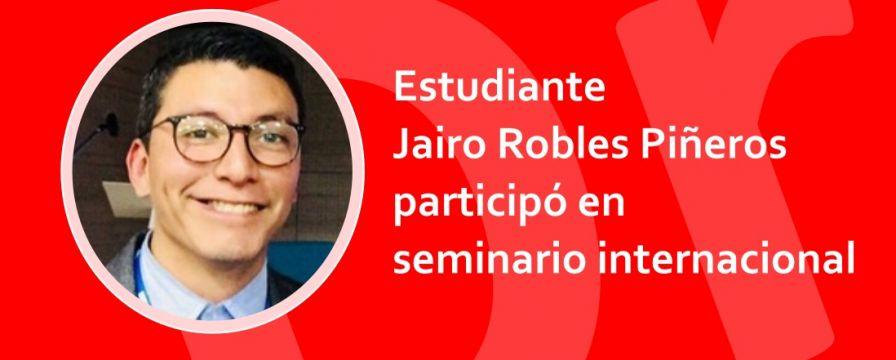 Banner por participación de estudiante en Curso internacional Decolonialidad y educación ambiental