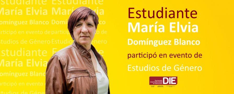 baner  por porticipación de estudiante del DIE-UD en evento de Estudios de Género