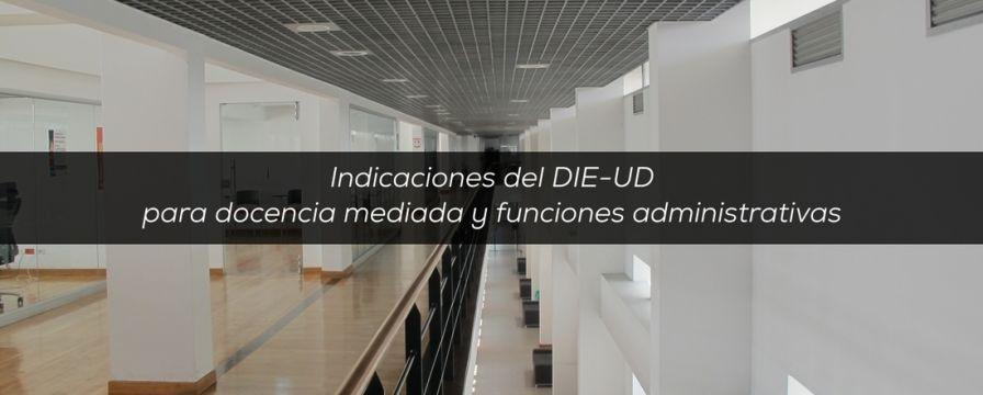 Banner para indicaciones por docencia mediada