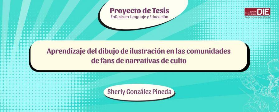 Bannner por la Sustentación del Proyecto de Sherly González