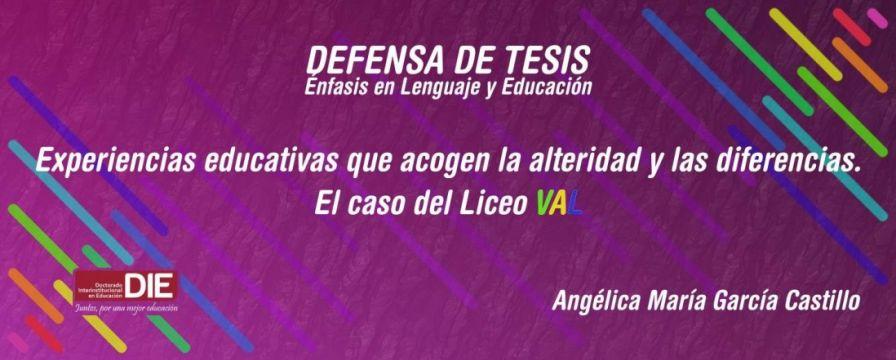 Sustentación de Tesis Doctoral, Angélica María García Castillo