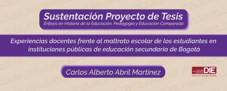 Banner por la sustentación del proyecto de Carlos Alberto Abril