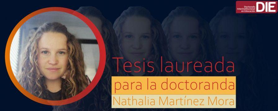 Banner por tesis laureada de Nathalia Martínez Mora