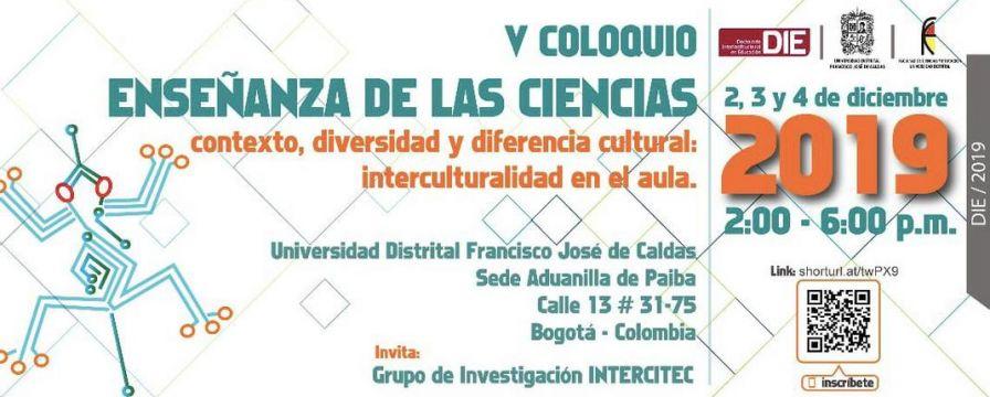Banner del V Coloquio de línea de INTERCITEC