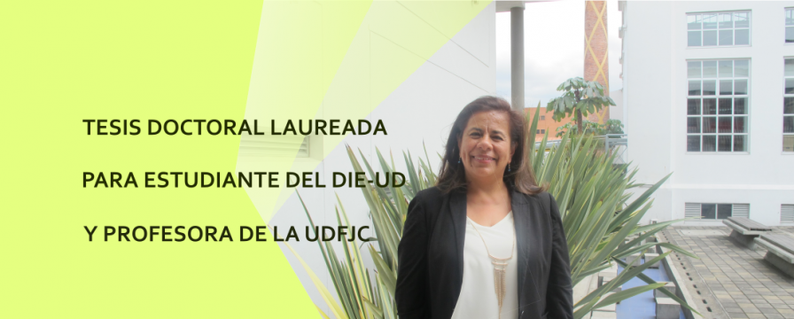 Banner por la aprobación de tesis laureada de Gloria Neira
