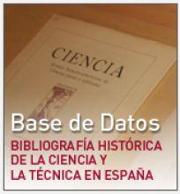 Logo Bibliografía Histórica de la Ciencia y la Técnica en España