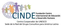 Logo del Centro Internacional de Educacion y Desarrollo Humano, iconos de niños tomados de la mano