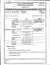 Comisión Tercera Permanente CSU 2013