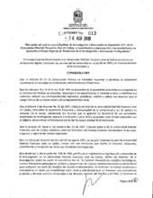 Acuerdo 013-2018 del Consejo Superior Universitario