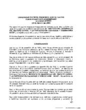 Acuerdo 002-2000 del Consejo Superior Universitario