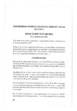 Resolución de rectoría No. 031 de 2013