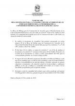 Comunicado Mesa de Diálogo para la construcción de acuerdos para el fortalecimiento de la Universidad Distrital