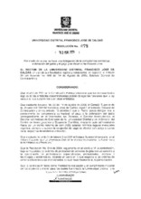 Resolución de rectoría No. 078 de 2009