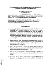 Acuerdo 014-2002 del Consejo Superior Universitario