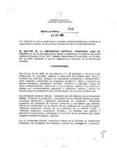 Resolución de rectoría No. 668 de 2008