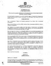 Acuerdo 003-2015 del Consejo Superior Universitario