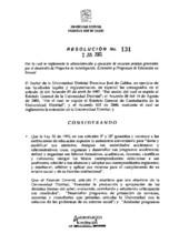 Resolución de rectoría No. 131 de 2005