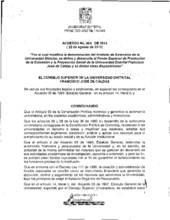 Acuerdo 004-2013 del Consejo Superior Universitario