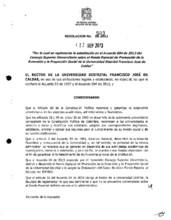 Resolución de rectoría No. 503 de 2013